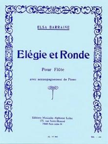 BARRAINE E. ELEGIE ET RONDE FLUTE