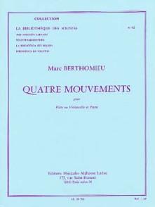 BERTHOMIEU M. QUATRE MOUVEMENTS FLUTE