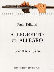 TAFFANEL P. ALLEGRETTO ET ALLEGRO FLUTE