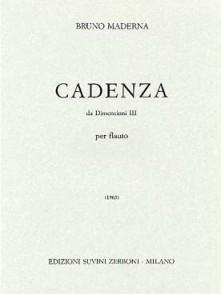 MADERNA B. CADENZA DIMENSION III FLUTE SOLO