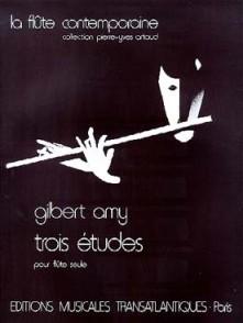 AMY G. TROIS ETUDES FLUTE SOLO