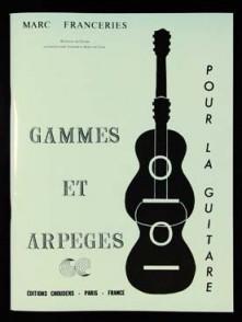 FRANCERIES M. GAMMES ET ARPEGES GUITARE