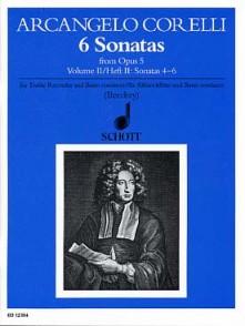 CORELLI A. 6 SONATAS OP 5 VOL 2 FLUTE