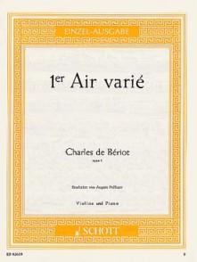 BERIOT C. 1ER AIR VARIE OP 1 VIOLON