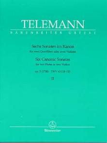 TELEMANN G.P. 6 SONATES EN CANON OP 5 VOL 2 FLUTES OU VIOLONS