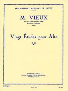 VIEUX M. 20 ETUDES POUR ALTO