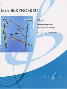 BERTHOMIEU M. CHATS ENSEMBLE DE FLUTES