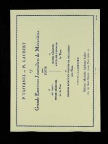 TAFFANEL P./GAUBERT P. 17 GRANDS EXERCICES JOURNALIERS FLUTE