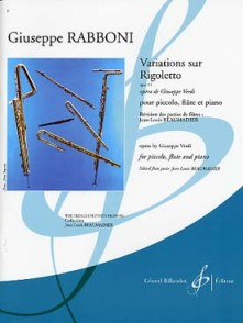 RABBONI G. VARIATIONS SUR RIGOLETTO FLUTES