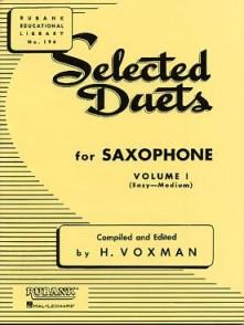 VOXMAN H. SELECTED DUETS VOL 1 SAXOPHONES