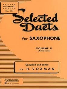 VOXMAN H. SELECTED DUETS VOL 2 SAXOPHONES