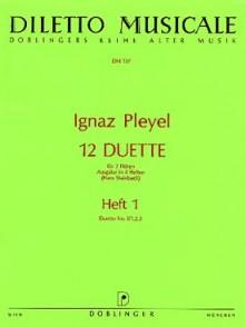 PLEYEL I. 12 DUETTES VOL 1 FLUTES