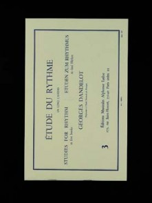 DANDELOT G. ETUDE DU RYTHME VOL 3