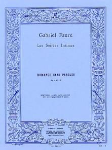 FAURE G. ROMANCE SANS PAROLES OP 17 N°3 VIOLON
