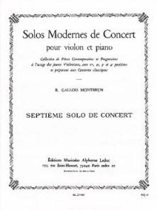 GALLOIS-MONTBRUN R. 7ME SOLO DE CONCERT VIOLON