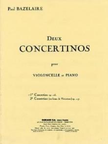 BAZELAIRE P. CONCERTINO OP 126 VIOLONCELLE