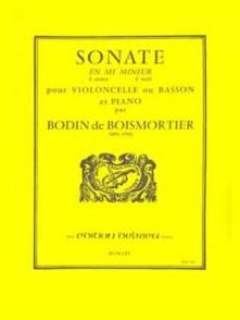 BOISMORTIER J.B. SONATE OP 26 MI MINEUR VIOLONCELLE