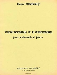 BOUTRY R. VARIATIONS A L'ANCIENNE VIOLONCELLE