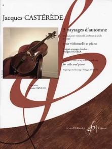 CASTEREDE J. PAYSAGES D'AUTOMNE VIOLONCELLE
