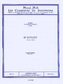 HAENDEL G.F. 6ME SONATE SAXO ALTO