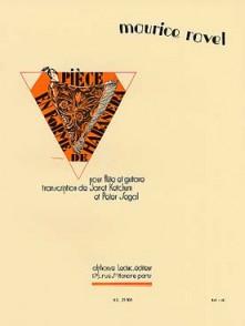 RAVEL M. PIECE EN FORME DE HABANERA FLUTE GUITARE
