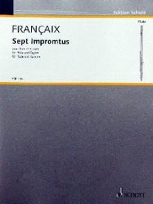 FRANCAIX J. IMPROMPTUS FLUTE BASSON