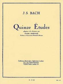 BACH J.S. 15 ETUDES CLARINETTE