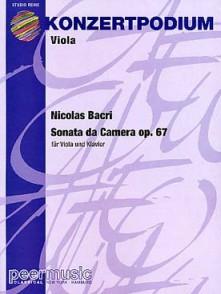 BACRI N. SONATA DA CAMERA OP 67 ALTO
