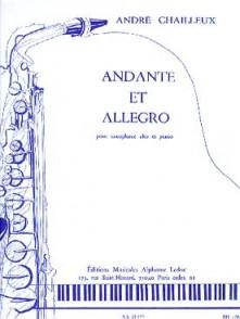 CHAILLEUX A. ANDANTE ET ALLEGRO SAXOPHONE ALTO