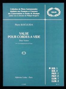 KOCLEJDA P. VALSE CORDES A VIDE VIOLON