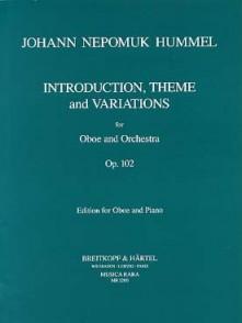 HUMMEL J.N. INTRODUCTION THEME VARIATIONS OP 102 HAUTBOIS