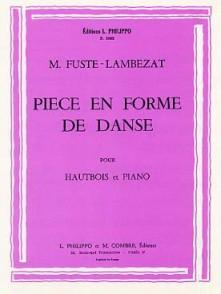 FUSTE-LAMBEZAT M. PIECE EN FORME DE DANSE HAUTBOIS