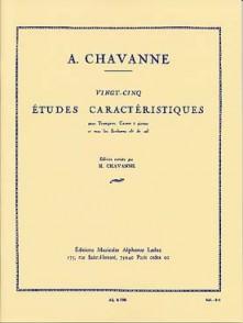 CHAVANNE A. 25 ETUDES CARACTERISTIQUES TROMPETTE
