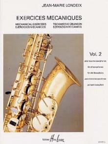 LONDEIX J.M. EXERCICES MECANIQUES VOL 2 SAXO