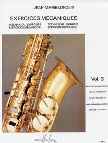 LONDEIX J.M. EXERCICES MECANIQUES VOL 3 SAXO