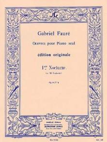 FAURE G. NOCTURNE N°1 OP 33 PIANO