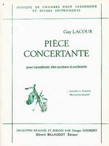 LACOUR G. PIECE CONCERTANTE SAXO