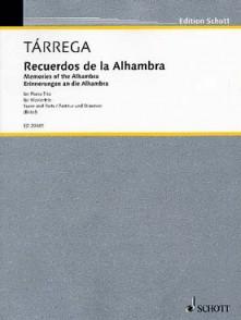 TARREGA F. RECUERDOS DE LA ALHAMBRA CORDES ET PIANO
