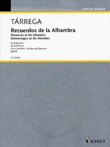 TARREGA F. RECUERDOS DE LA ALHAMBRA TRIO CORDES