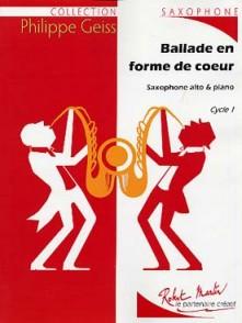 GEISS P. BALLADE EN FORME DE COEUR SAXO ALTO