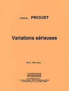 PROUST P. VARIATIONS SERIEUSES FLUTE SOLO