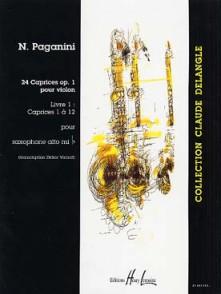 PAGANINI N. 24 CAPRICES OP 1 VOL 1 SAXO SOLO