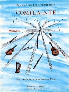 GALLOIS-MONTBRUN R. COMPLAINTE SAXO MIB