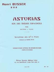 BUSSER H. ASTURIAS OP 84 SAXO MIB