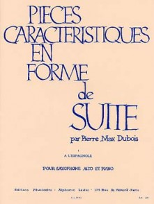 DUBOIS P.M. PIECE CARACTERISTIQUE EN FORME DE SUITE N°1 SAXO MIB