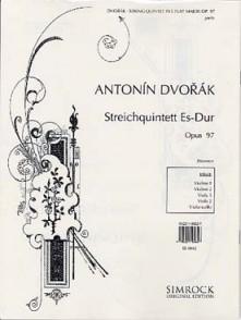 DVORAK A. QUINTETTE OP 97 CORDES