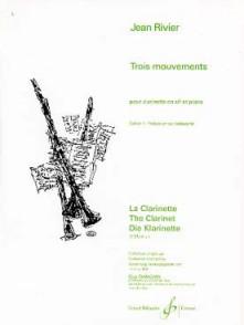 RIVIER J. MOUVEMENTS: PRELUDE EN SOL CLARINETTE