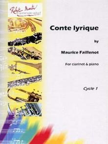 FAILLENOT M. CONTE LYRIQUE CLARINETTE