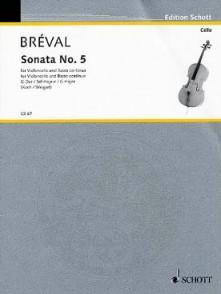 BREVAL J.B. SONATE G MAJOR VIOLONCELLE