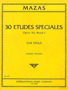 MAZAS ETUDES SPECIALES OP 36 VOL 1 ALTO
